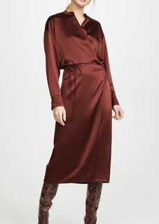 Vince Long Sleeve Wrap Dress