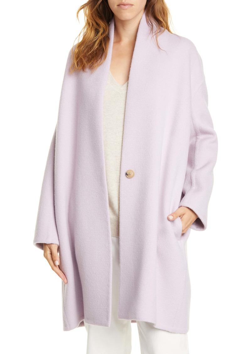 Vince Longline Wool Blend Coat