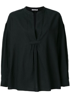 Vince longsleeved V-neck blouse - Black