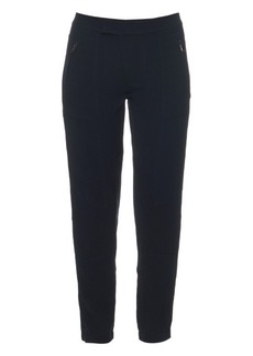 Vince Low-rise crepe trousers