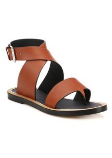 Vince Mailin Leather Flat Sandals