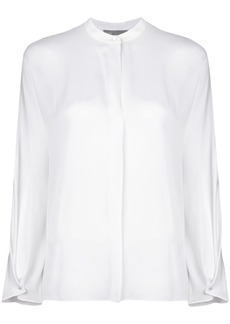 Vince mandarin neck blouse - White