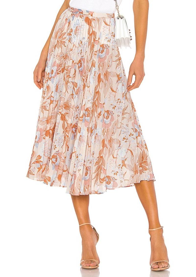Vince Marine Garden Pleated Skirt