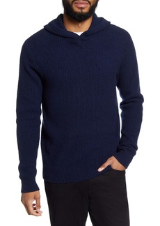 Vince Marled Cashmere Pullover Sweater Hoodie