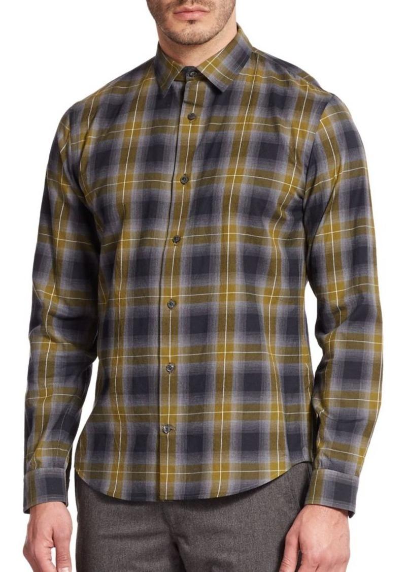 Vince Melrose Plaid Cotton Sportshirt