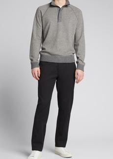 Vince Men's Birdseye Mock-Neck Pullover Sweater