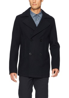 Vince Men's Bonded Double Breasted Peacoat  L