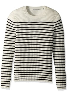 Vince Men's Bretton Stripe Cashmere Crew Sweater  M