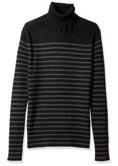 Vince Men's Bretton Stripe Cashmere Turtleneck Sweater  M
