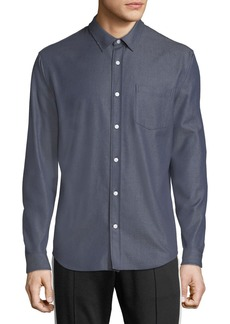 Vince Men's Button-Front Long-Sleeve Twill Shirt
