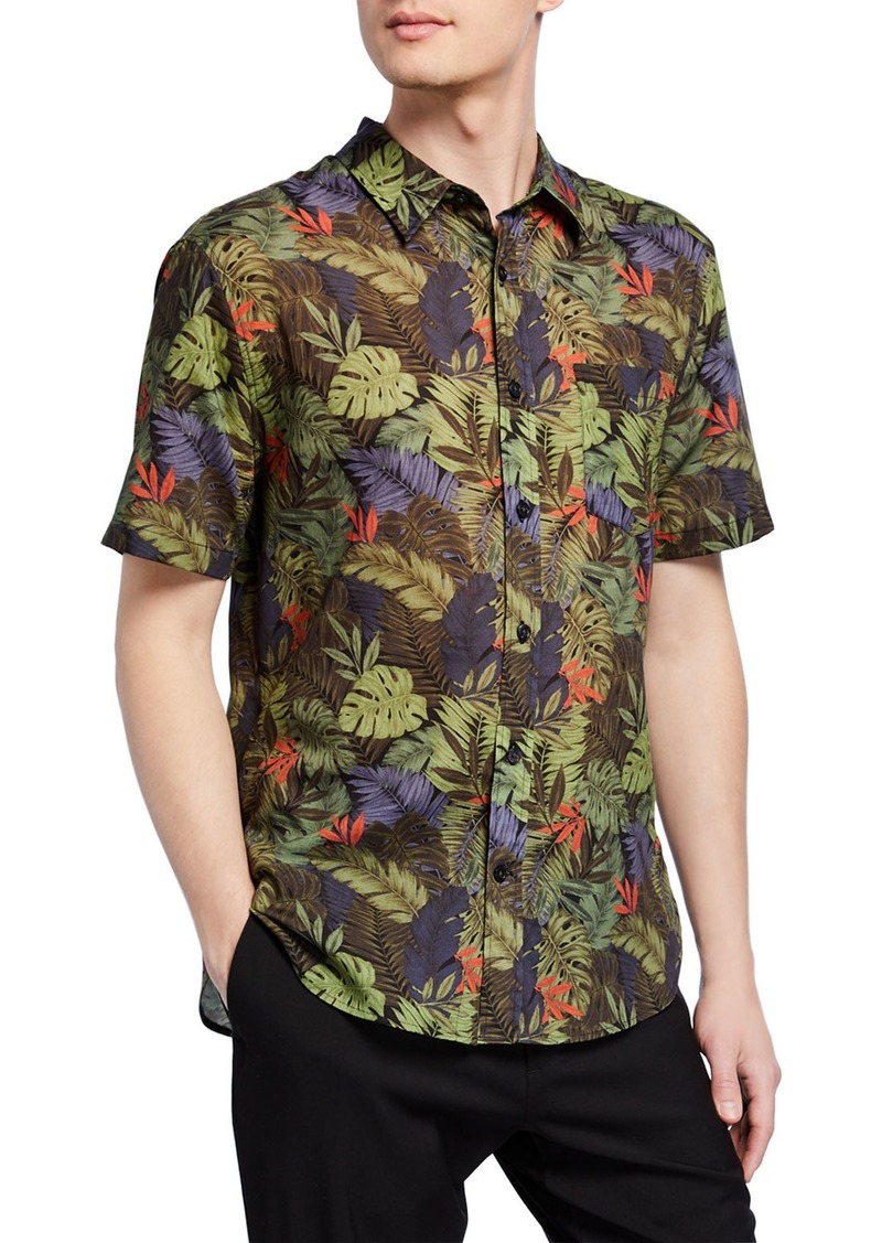 Vince Men's California Print Short-Sleeve Sport Shirt