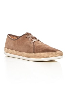 Vince Men's Chandler Suede Espadrille Lace Up Sneakers