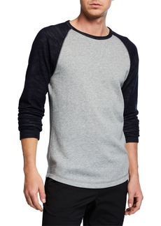 Vince Men's Colorblock Double Knit Long-Sleeve Shirt