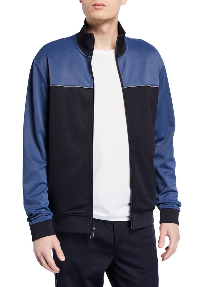 Vince Men's Colorblock Zip-Front Track Jacket