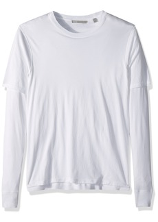 Vince Men's Cotton Double Layer Long Sleeve Tee  XXL