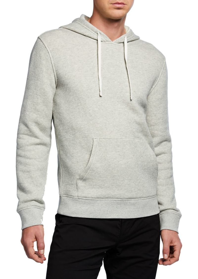 Vince Men's Cotton Solid Hoodie