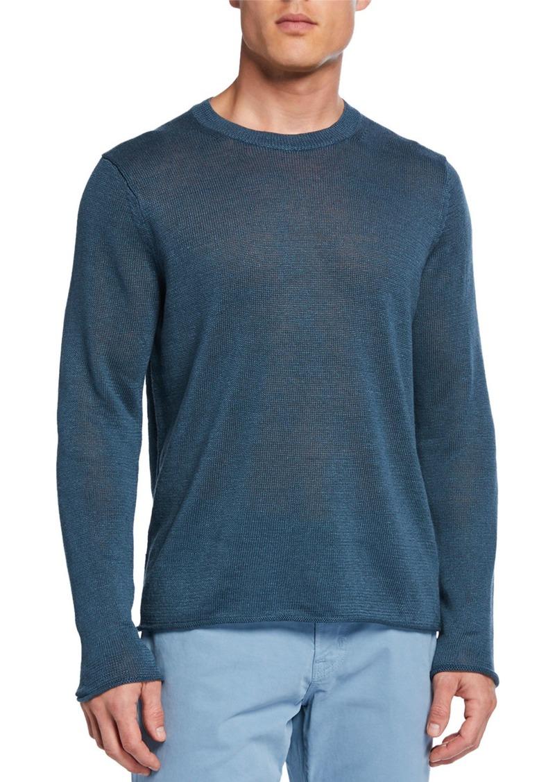 Vince Men's Crewneck Linen Sweater