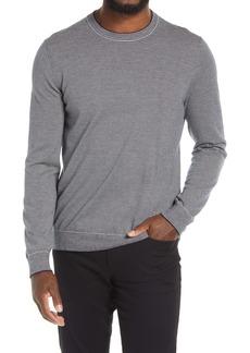 Vince Men's Crewneck Pinstripe Wool & Cashmere Sweater