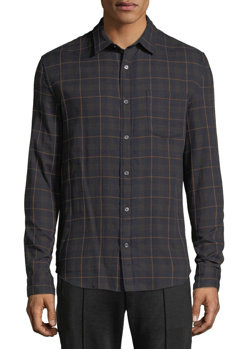 Vince Men's Double-Face Plaid Shirt