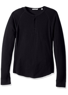 Vince Men's Double Knit Raglan Henley  S