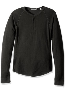Vince Men's Double Knit Raglan Henley  XXL