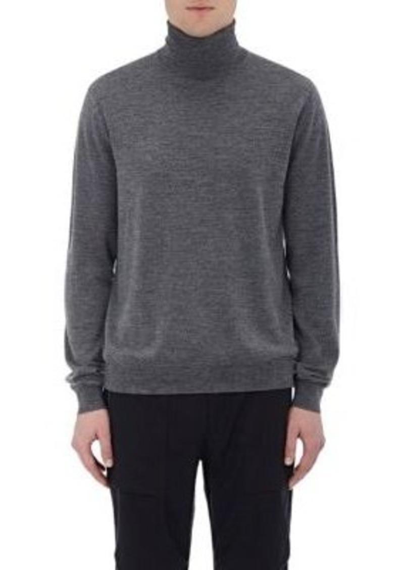 Vince. Men's Fine-Gauge Turtleneck Sweater-Grey Size XL