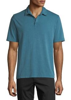 Vince Men's Garment-Dyed Short-Sleeve Polo Shirt
