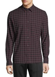 Vince Men's Gingham-Plaid Button-Front Long-Sleeve Casual Shirt