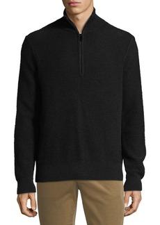 Vince Men's Half-Zip Mock-Neck Cashmere Pullover