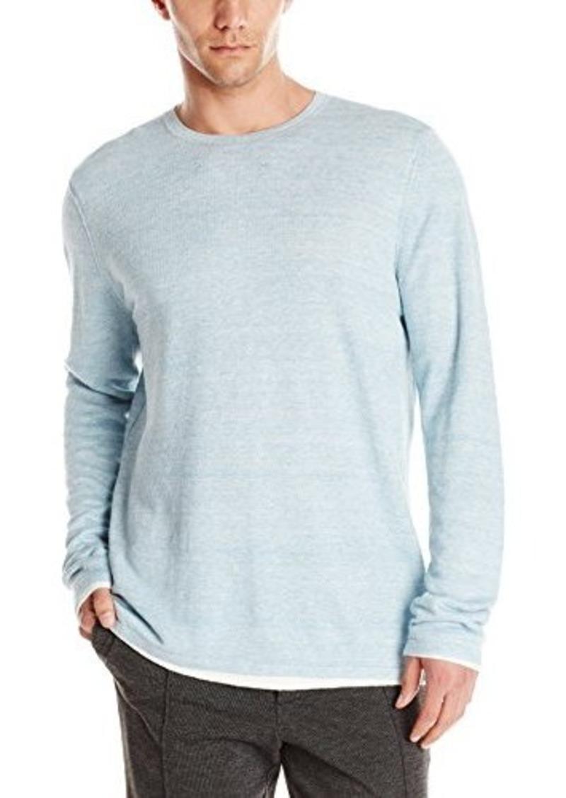 Vince Men's Linen Double Layer Long Sleeve Crew T-Shirt