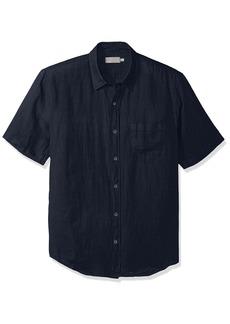 Vince Men's Linen Short Sleeve Button Up