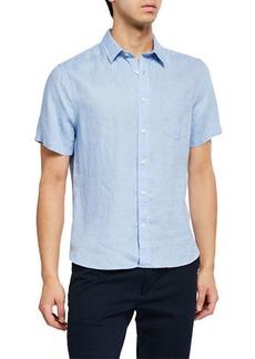 Vince Men's Linen Short-Sleeve Sport Shirt