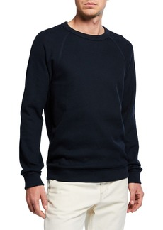 Vince Men's Long-Sleeve Flatback Rib Crew T-Shirt