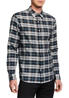 Vince Men's Novelty Plaid Sport Shirt