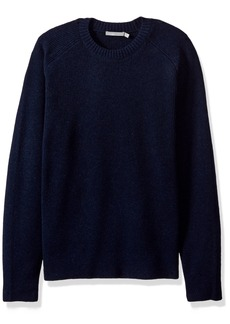 Vince Men's Raglan Sleeve Ribbed Crew Neck Sweater  S