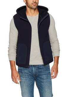 Vince Men's Reversible Sherpa Hooded Vest