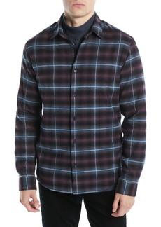Vince Men's Shadow Grid-Plaid Button-Down Shirt