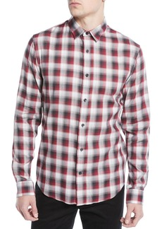 Vince Men's Shadow Plaid Sport Shirt