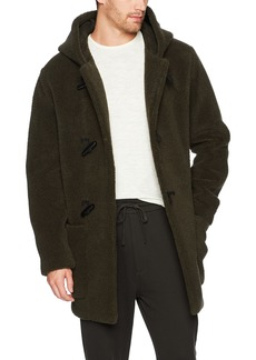 Vince Men's Sherpa Hooded Toggle Coat  S