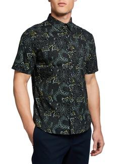 Vince Men's Short-Sleeve Floral Graphic Sport Shirt