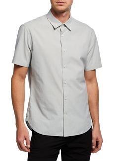 Vince Men's Short-Sleeve Micro Stripe Shirt
