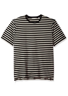 Vince Men's Smooth Jersey Striped Short Sleeve Crew  XL