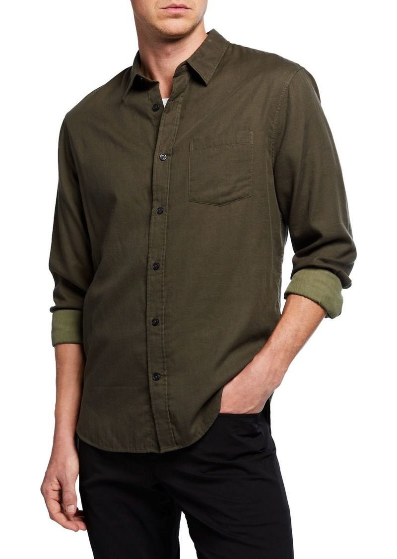 Vince Men's Solid Double Face Long-Sleeve Sport Shirt