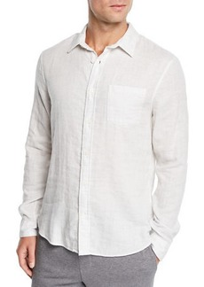 Vince Men's Solid Double-Face Sport Shirt