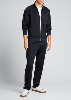 Vince Men's Striped-Trim Track Jacket