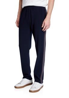 Vince Men's Tech Jersey Side-Stripe Track Pants