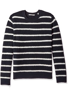 Vince Men's Textured Striped Crew
