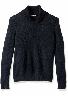 Vince Men's Thermal Cashmere Shawl Collar Pullover Sweater  L