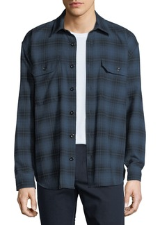 Vince Men's Two-Tone Plaid Overshirt