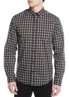 Vince Men's Two-Tone Plaid Pocket Sport Shirt
